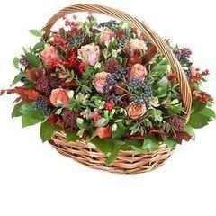 Магазин цветов Cvetok.by Цветочная корзина «Осенний вечер»
