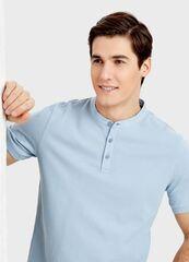 Кофта, рубашка, футболка мужская O'stin Поло с воротником-стойкой MT1S77-62