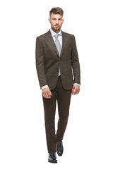 """Пиджак, жакет, жилетка мужские HISTORIA Пиджак коричневый в рисунок """"елочка"""""""