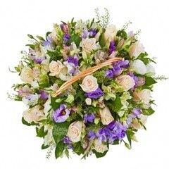 Магазин цветов Cvetok.by Цветочная корзина «Je T' aime (Же Тем)»