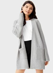 Кофта, блузка, футболка женская O'stin Кардиган горизонтальной вязки LK4T51-92