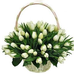 "Магазин цветов Долина цветов Корзина с цветами ""Весна в душе"""