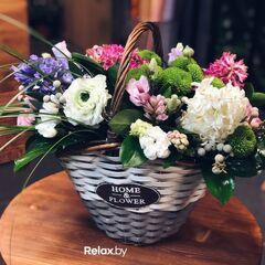Магазин цветов Кошык кветак Букет - композиция в корзине №1