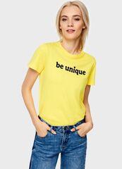 Кофта, блузка, футболка женская O'stin Футболка с принтом LT4U51-33