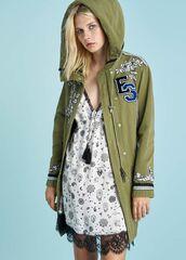 Верхняя одежда женская Ermanno Scervino Куртка SS18 зелёная
