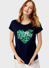 Кофта, блузка, футболка женская O'stin Футболка с принтом женская LT4UB2-68
