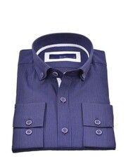 Кофта, рубашка, футболка мужская HISTORIA Рубашка синяя
