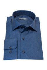 Кофта, рубашка, футболка мужская HISTORIA Рубашка мужская, синяя, фактурный узор