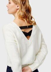 Кофта, блузка, футболка женская O'stin Укороченный джемпер с лентами LK1U1C-02