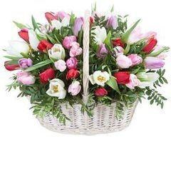 Магазин цветов Cvetok.by Цветочная корзина «Анабель»