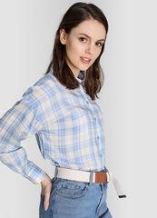 Кофта, блузка, футболка женская O'stin Рубашка в клетку из тенселя LS1W64-60