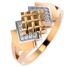 Ювелирный салон ZORKA Кольцо из розового золота с фианитом 210697.14K.R