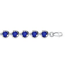Ювелирный салон Sokolov Браслет из серебра с синими фианитами 94050057