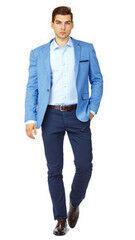Пиджак, жакет, жилетка мужские HISTORIA Пиджак мужской светло-синий H01