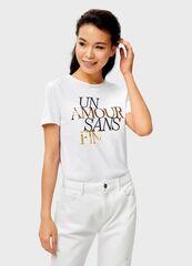 Кофта, блузка, футболка женская O'stin Футболка с принтом LT4UB6-00