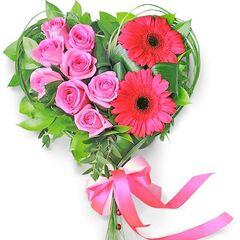 """Магазин цветов Долина цветов Цветочная композиция """"Розы и Герберы"""""""
