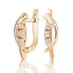 Ювелирный салон Jeweller Karat Серьги золотые с бриллиантами арт. 3222792/9