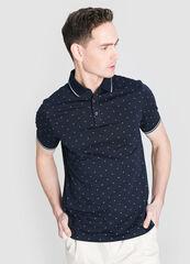 Кофта, рубашка, футболка мужская O'stin Рубашка-поло с микрогеометрическим принтом MT4W74-68