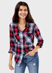 Кофта, блузка, футболка женская O'stin Рубашка в клетку LS4T51-19