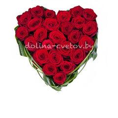 """Магазин цветов Долина цветов Цветочная композиция """"Сердце любви"""""""