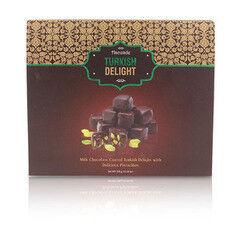 Подарок на Новый год Hacizade Рахат лукум с фисташками в шоколаде, 350 гр