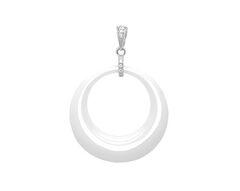 Ювелирный салон Evora Подвеска из белой керамики и серебра с фианитами 620503