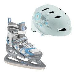 Коньки Bladerunner Детские ледовые коньки Micro Ice Combo Girls white/blue