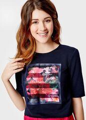 Кофта, блузка, футболка женская O'stin Джемпер с тропическим принтом LT1S88