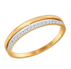 Ювелирный салон Sokolov Обручальное кольцо из золота с фианитами 017151