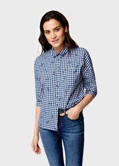Кофта, блузка, футболка женская O'stin Объёмная рубашка из хлопка LS4U52-68